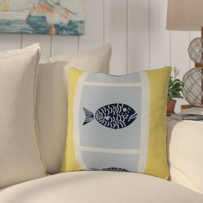 Bartow Fish Chips Throw Pillow Size: 16 H x 16 W x 3 D, Color: Yellow