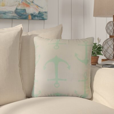 Willen Coastal Cotton Throw Pillow Color: Mint
