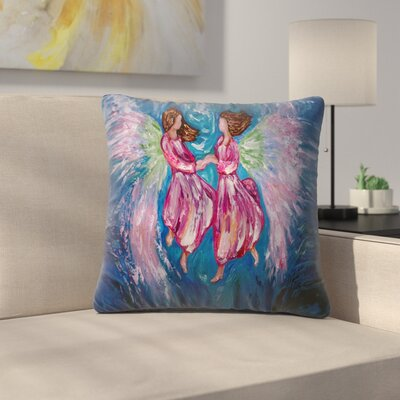 Olena Art Angelic Dance Throw Pillow Size: 16 x 16
