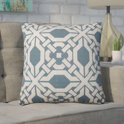 Zorya Geometric Throw Pillow Color: Pacific