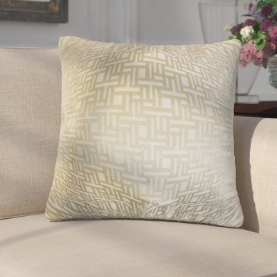 Griswalda Geometric Throw Pillow Color: Tan