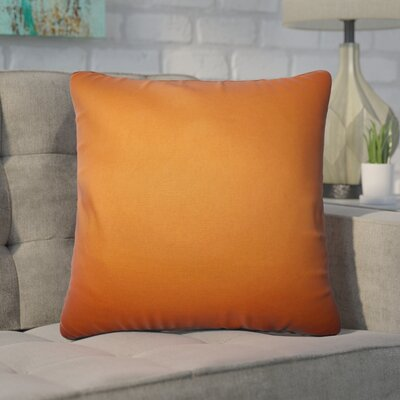 Desma Solid Cotton Throw Pillow Color: Orange