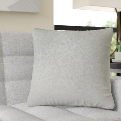 Aymond Square Throw Pillow Color: Light Gray