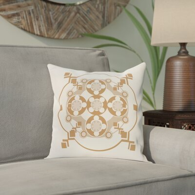 Anita Geometric Throw Pillow Size: 18 H x 18 W, Color: Ivory / Brown