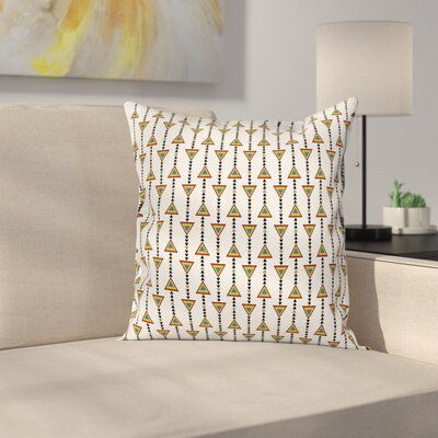 Native American Style Cushion Pillow Cover Size: 16 x 16