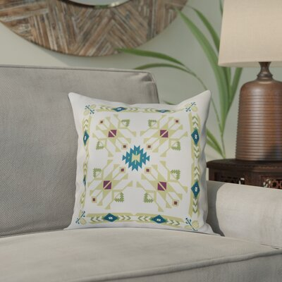 Meetinghouse Jodhpur Border 4 Geometric Print Throw Pillow Size: 16 H x 16 W, Color: Green