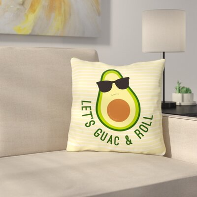 Sparling Guac And Roll Throw Pillow Size: 16 x 16