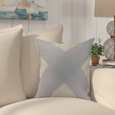 Harriet X Mark Throw Pillow Color: Blue, Size: 16