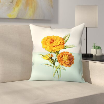 Marigold Yellow Throw Pillow Size: 14 x 14