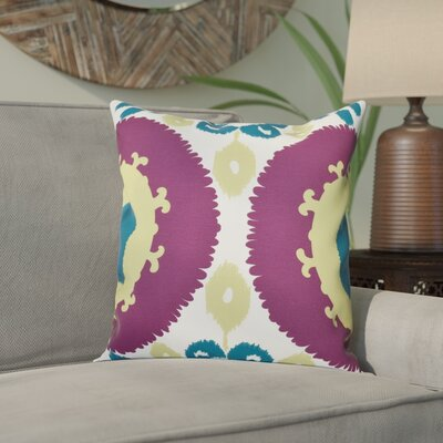 Meetinghouse Boho Outdoor Throw Pillow Size: 18 H x 18 W, Color: Purple
