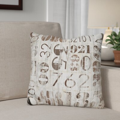 Giancola Weathered Numbers Throw Pillow