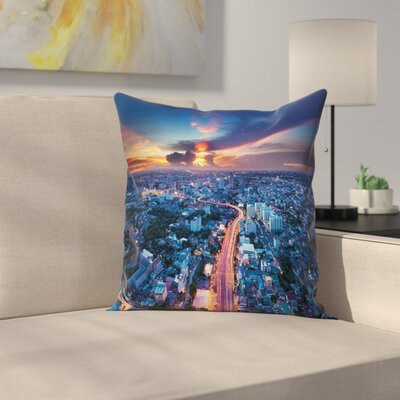 City Sunset Pillow Cover Size: 16 x 16
