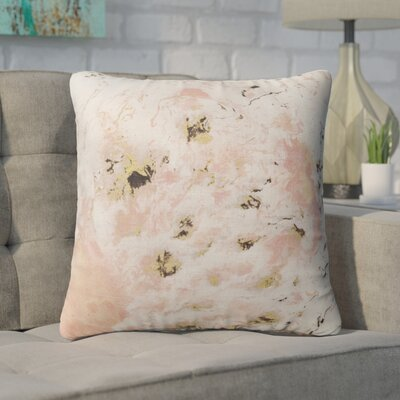 Swaney Throw Pillow Color: Pink, Size: 16 x 16