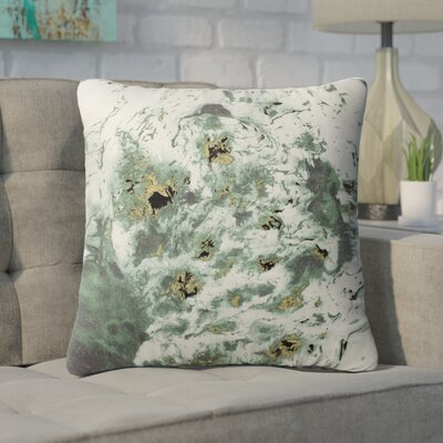 Swaney Throw Pillow Color: Green, Size: 18 x 18