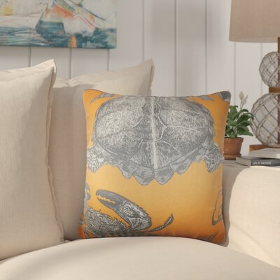 Simonton Coastal Cotton Throw Pillow Color: Orange