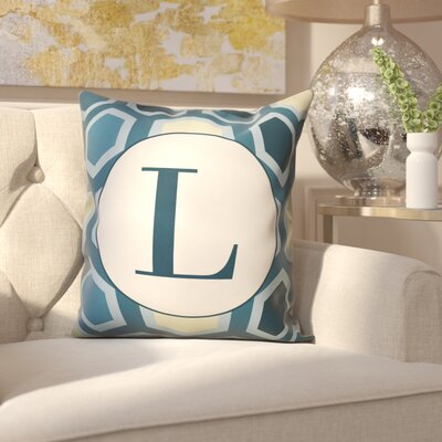 Hartig Hexagon Monogram Pillow Letter: L