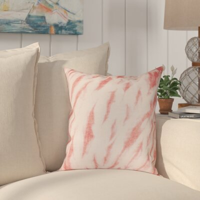 Grand Ridge Shibori Stripe Geometric Throw Pillow Size: 20 H x 20 W, Color: Coral