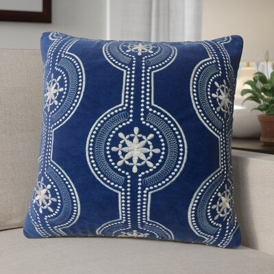 Holiday Velvet Throw Pillow Color: Blue