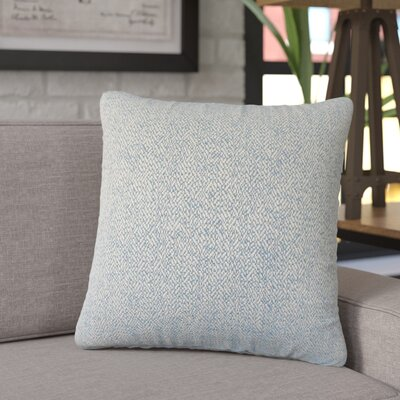 Tanuja Woven Down Filled 100% Cotton Throw Pillow Size: 24 x 24, Color: Blue