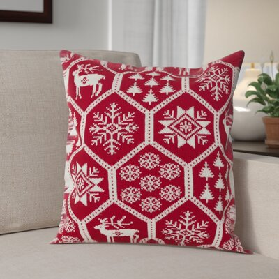 Holiday Fair Isle Throw Pillow