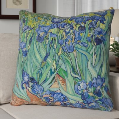 Morley Irises Euro Pillow Color: Green/Blue/Brown
