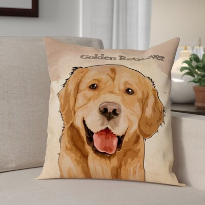 Crispin Golden Retreiver Throw Pillow