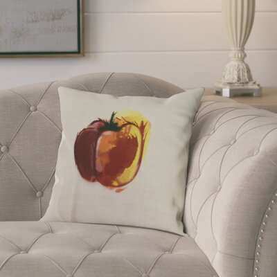Kaylor Pepper Indoor/Outdoor Throw Pillow Color: Maroon, Size: 18 x 18