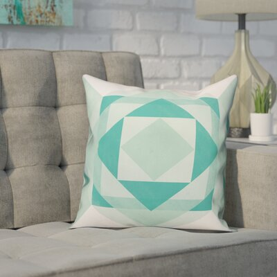 Noriega Turquoise Geometric Pillow Size: 18 x 18, Type: Throw Pillow