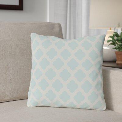 Flannigan Throw Pillow Size: 16 H x 16 W, Color: Fair Aqua