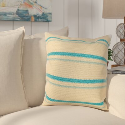 Jasper 100% Cotton Throw Pillow Color: Blue