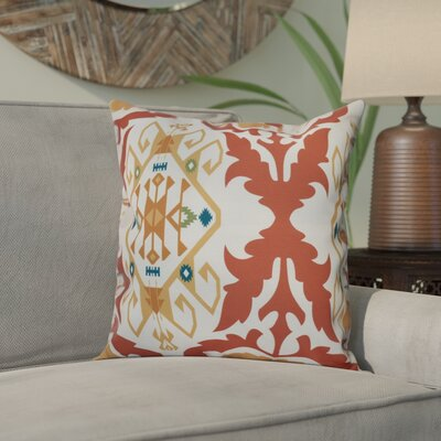 Meetinghouse Bombay Medallion Geometric Outdoor Throw Pillow Size: 18 H x 18 W, Color: Coral