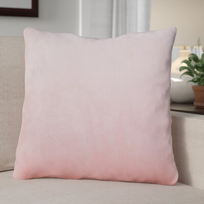 Eason Supersoft Shell Pillow Cover Color: Rose Quartz