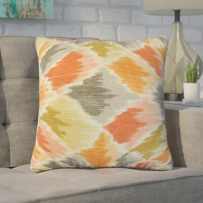 Nutt Geometric Cotton Throw Pillow Color: Orange