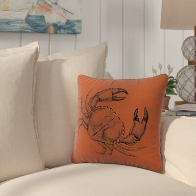 Truman Crab Throw Pillow Color: Paprika