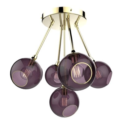 The Ballroom Molecule 8-Light Chandelier Finish: Gold, Shade Color: Purple Rain