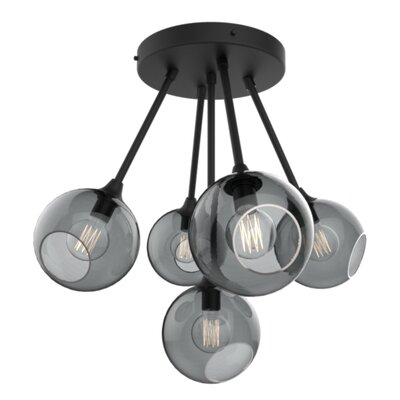 The Ballroom Molecule 8-Light Chandelier Finish: Black, Shade Color: Smoke