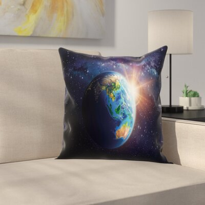Face of Earth Pillow Cover Size: 24 x 24