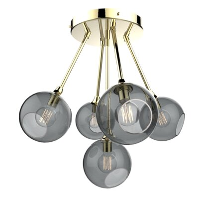 The Ballroom Molecule 8-Light Chandelier Finish: Gold, Shade Color: Smoke