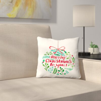 Elena ONeill Merry Christmas Throw Pillow Size: 14 x 14