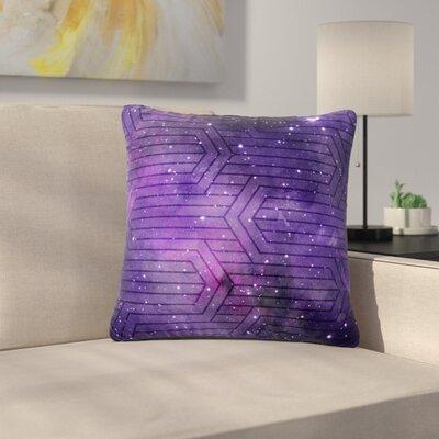 Matt Eklund Labyrinth Outdoor Throw Pillow Color: Purple/Lavender, Size: 18 H x 18 W x 5 D