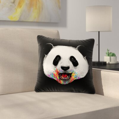 Digital Carbine Where Is the Rainbow? Illustration Outdoor Throw Pillow Size: 16 H x 16 W x 5 D