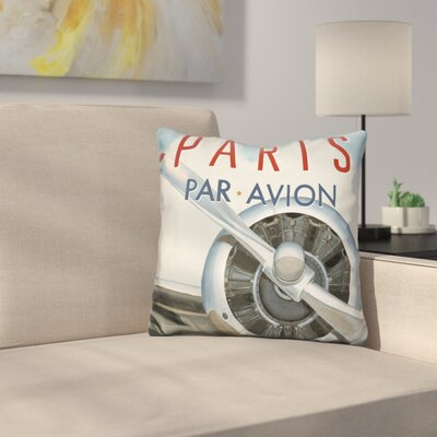Marone Travel by Air Throw Pillow