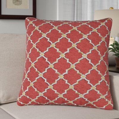Burnley Indoor/Outdoor Throw Pillow Color: Red/White