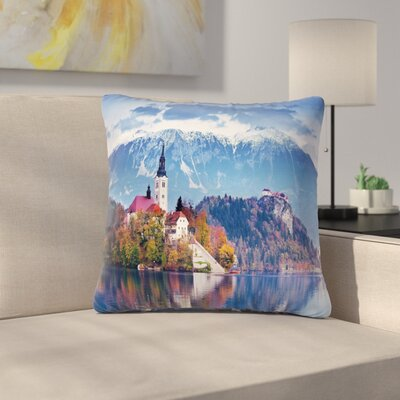 Modern Landscape Pillow Cover Size: 18 x 18
