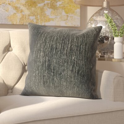 Hollins Gem Woven Decorative Pillow Cover Color: Sapphire