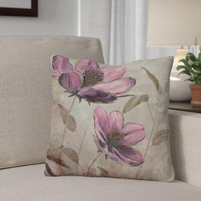 Gassett Plum Floral Throw Pillow