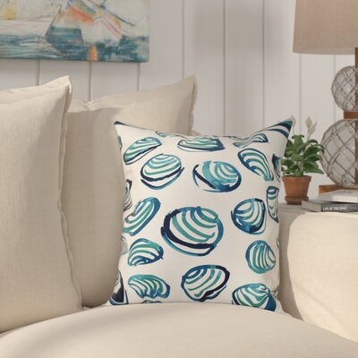 Cedarville Clams Geometric Print Outdoor Throw Pillow Size: 20 H x 20 W, Color: Teal