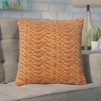 Creel Chevron Throw Pillow Color: Marigold