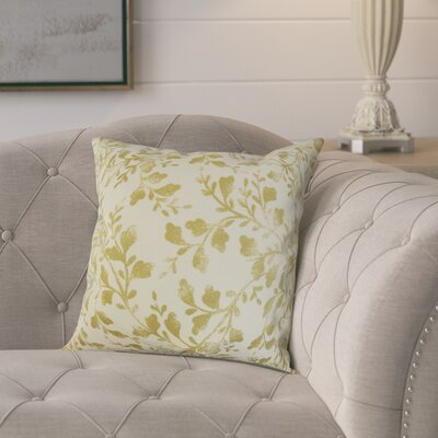 Pheobe Foliage Cotton Throw Pillow Color: Antique Gold