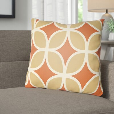 Wakefield I Throw Pillow Size: 22 H �x 22 W x 5 D, Color: Orange